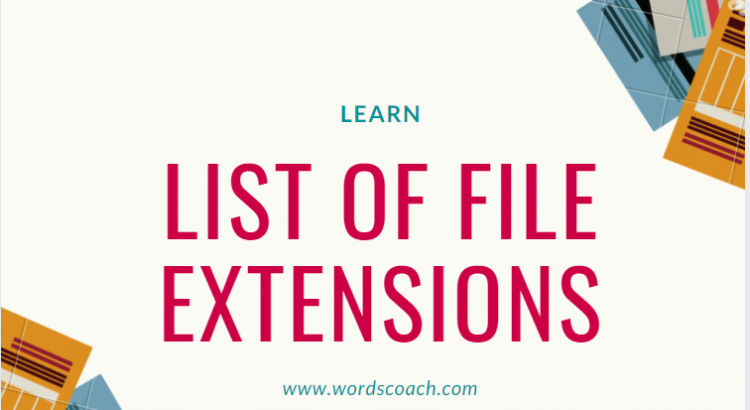 List of file extensions