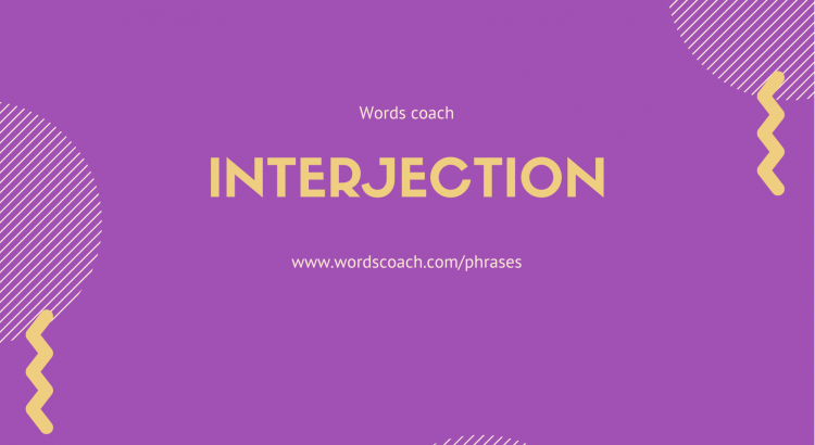 Interjection in English